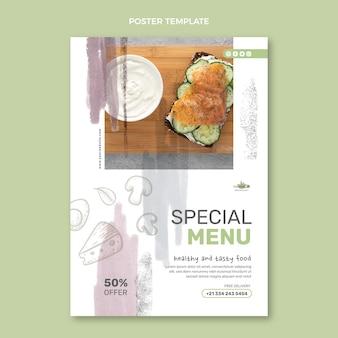 Affiche de nourriture aquarelle