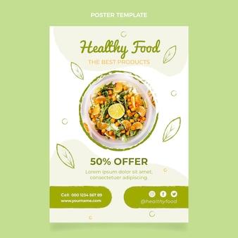 Affiche de nourriture saine design plat