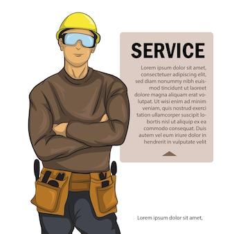 Affiche d'officier de service offrant son service