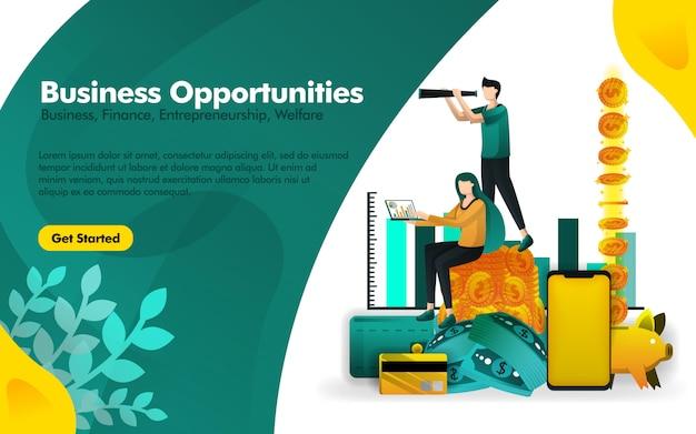 Affiche sur les opportunités de voir observant