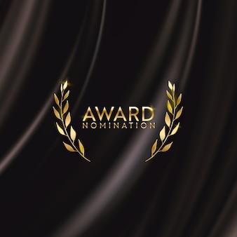 Affiche d'or de conception de nomination de film de lauréat d'or de prix