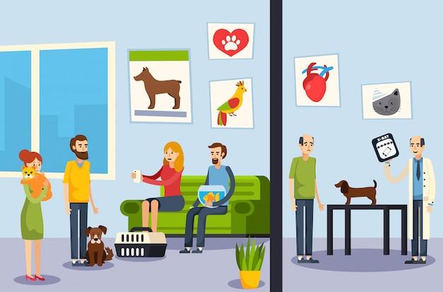 Affiche orthogonale plate de clinique vétérinaire