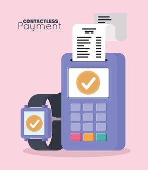 Affiche de paiement sans contact