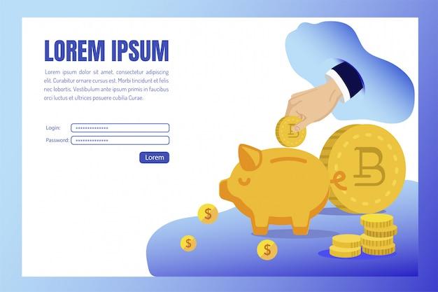 Affiche une partie cumulée des revenus en cash cartoon