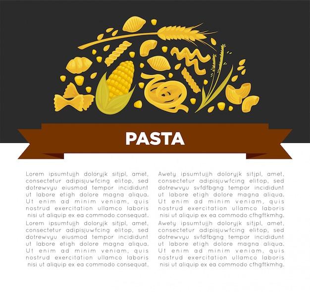 Affiche de pâtes