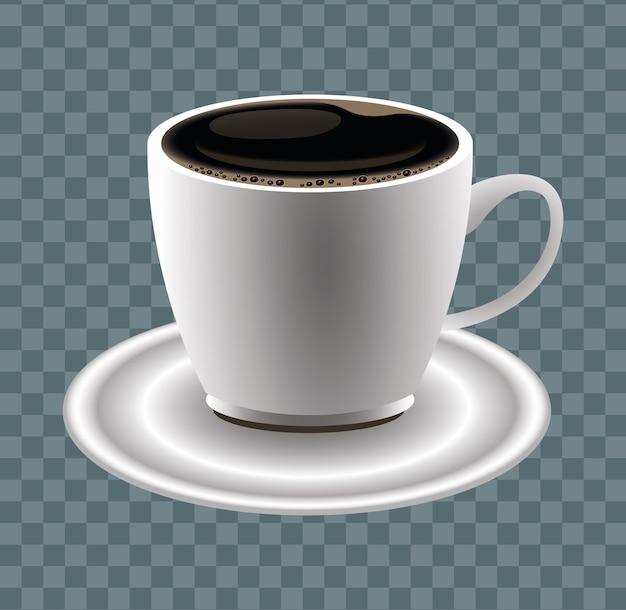Affiche de pause café avec conception d'illustration vectorielle tasse