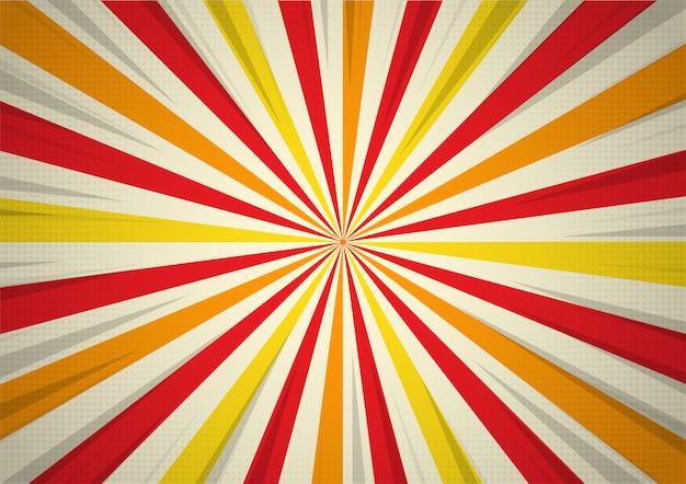 Affiche de performance de cirque rétro rayons de lumière