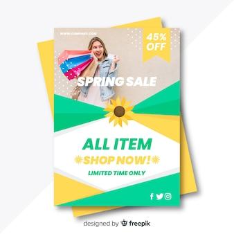 Affiche photographique de la vente de printemps