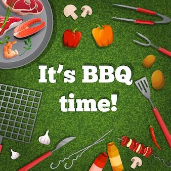 Affiche de pique-nique barbecue