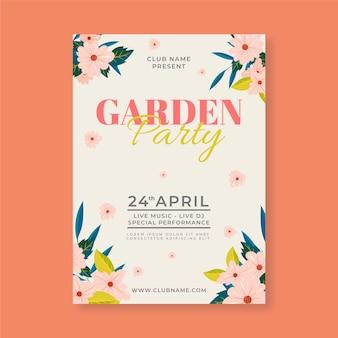 Affiche plate pour la fête du printemps