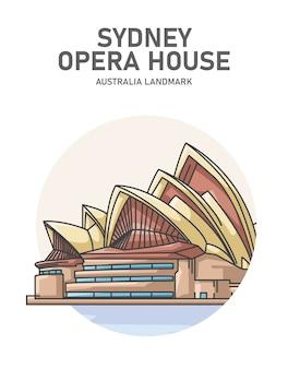Affiche de point de repère australien de l'opéra de sydney