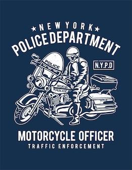 Affiche de la police de new york