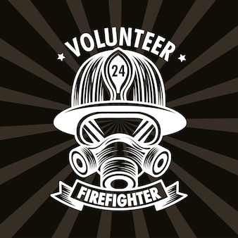 Affiche de pompier volontaire
