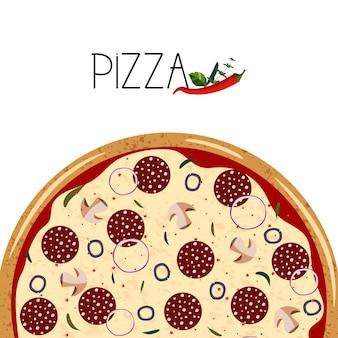 Affiche pour boîte à pizza.