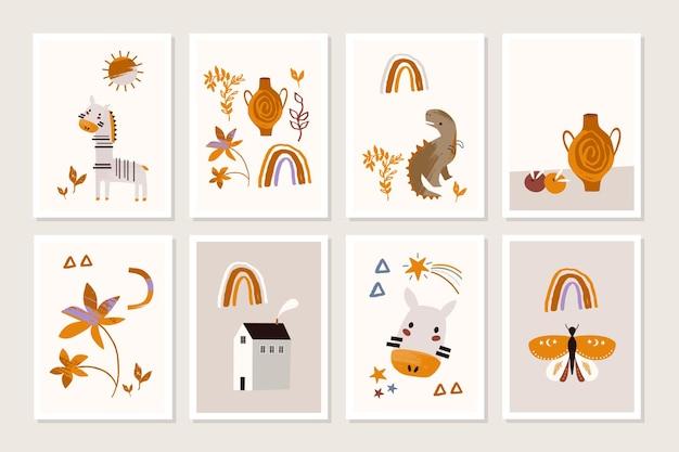Affiche pour enfants avec des animaux