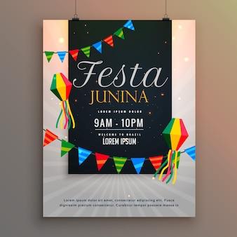 Affiche pour festa junina design de salutation de vacances