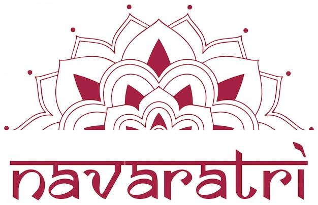 Affiche pour le festival de navaratri