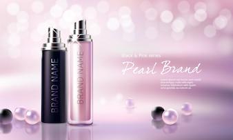 Affiche pour la promotion de produits cosmétiques hydratants et nourrissants.