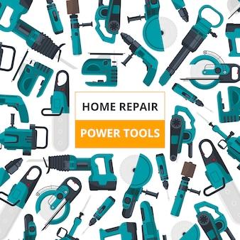 Affiche pour le marché des outils électriques.