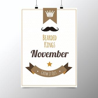 Affiche pour movember