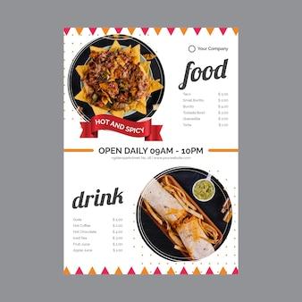 Affiche pour restaurant de cuisine mexicaine