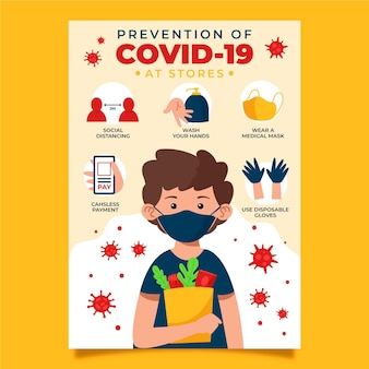 Affiche de prévention des coronavirus pour les magasins