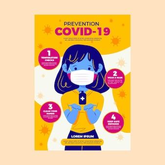 Affiche de prévention des coronavirus