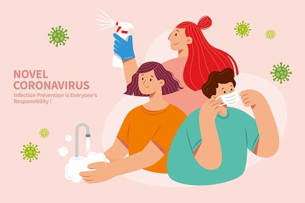 Affiche de prévention covid-19