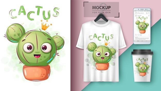 Affiche de princesse de cactus et merchandising