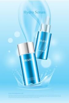 Affiche de produit d'eau cosmétique de belle forme