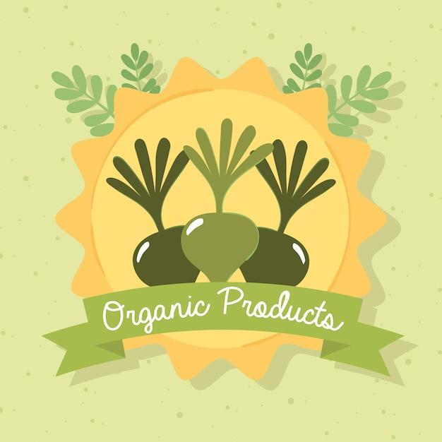 Affiche de produits biologiques