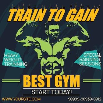 Affiche professionnelle gym et musculation