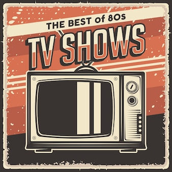 Affiche de programme de télévision vintage rétro