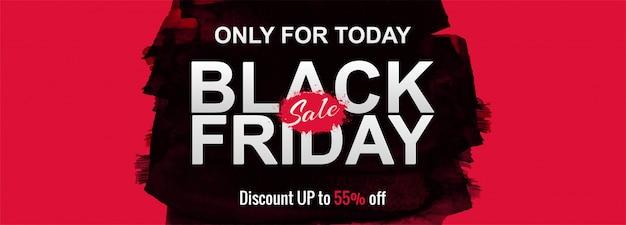 Affiche de promotion de vente du vendredi noir ou bannière