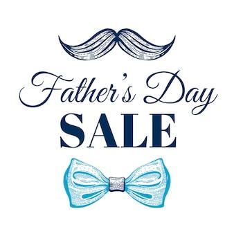 Affiche de promotion de vente de fête des pères heureux.