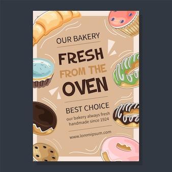 Affiche promotionnelle de boulangerie