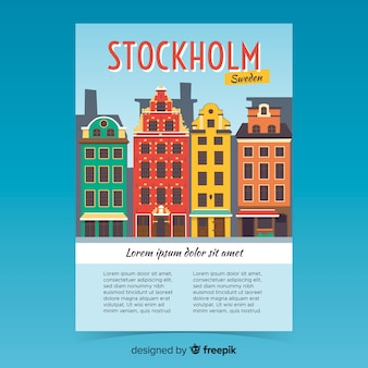 Affiche promotionnelle rétro du modèle de stockholm