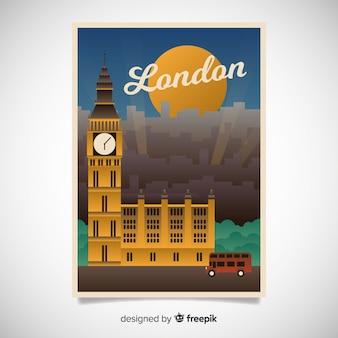 Affiche promotionnelle rétro d'un modèle de ville