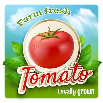 Affiche promotionnelle de tomates