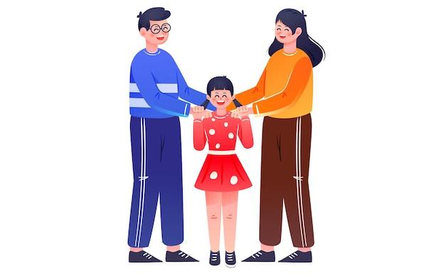 Affiche de protection d'assurance-maladie familiale illustration d'assurance-maladie familiale