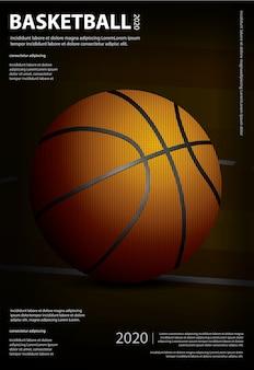 Affiche publicitaire de basket-ball illustration publicitaire