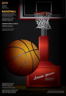 Affiche publicitaire de basket-ball