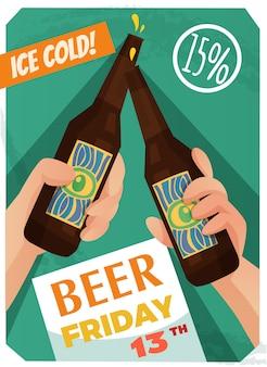 Affiche publicitaire de bière