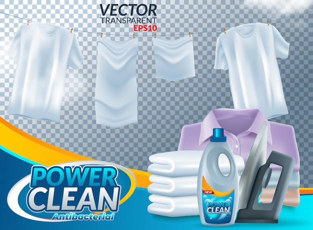 Affiche publicitaire pour détergent à lessive en poudre