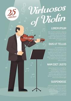 Affiche de publicité musicale