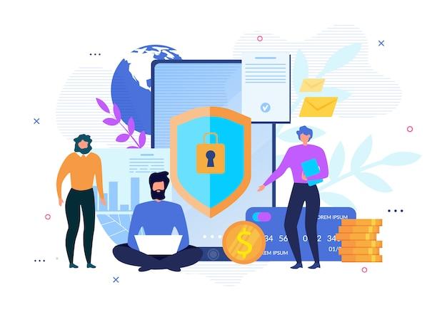 Affiche de publicité sur la sécurité internet des données personnelles