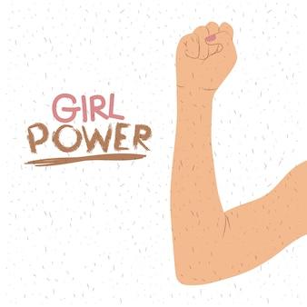 Affiche de puissance de fille