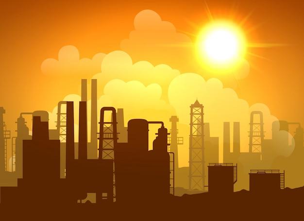 Affiche de raffinerie de pétrole
