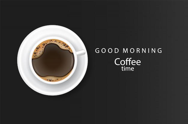 Affiche réaliste de café illustration