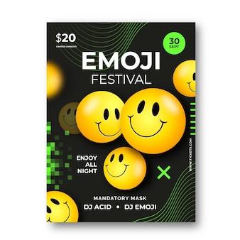 Affiche réaliste d'emoji acide